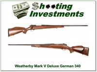 Weatherby Mark V Deluxe 340 GERMAN Exc Cond!