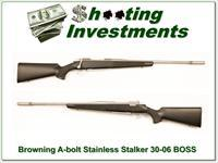 Browning A-bolt Stainless Stalker 30-06 w/ BOSS