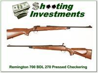Remington 700 BDL Pressed Checkering 270 Winchester