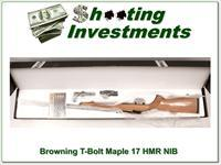 Browning T-bolt 17 HMR Limited Run Maple Stock NIB