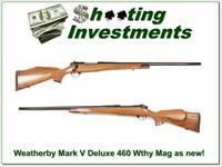 Weatherby Mark V Deluxe 460 Custom Shop as new!