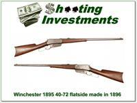 Winchester 1895 Flat Side Flatside made in 1896 40-72!