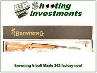 Browning A-bolt Mable Medallion 243 NIB Unfired Perfect!