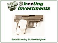 Early Browning FN 25 1906 Belgium Engraved!
