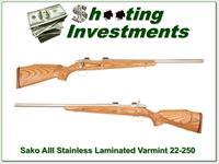 Sako III Laminated Stainless Varmint HB 22-250 as new!