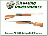 Browning A5 20 Gauge 65 Belgium Blond 26in IC VR