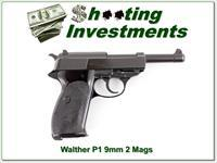 1976 Walther P1 9mm with 2 magazines