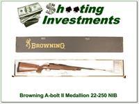 Browning A-bolt II Medallion 22-250 Rem last of the new ones!