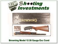 Browning Model 12 20 Gauge Exc Cond in box!