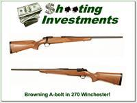 Browning A-bolt in 270 Winchester