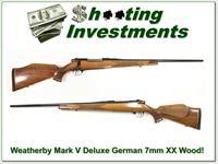 Weatherby Mark V Deluxe German 7mm XX Wood!