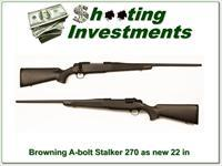 Browning A-bolt II Stalker 270 Win near new!