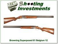 Browning Superposed 61 Belgium 12 Gauge 28in Skeet Exc Cond!