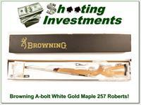 Browning A-bolt White Gold Maple Octagonal 257 Roberts!