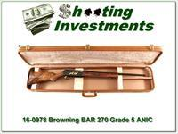 Browning BAR Grade 5 270 ANIC XX Wood!