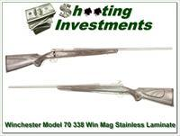 Winchester Model 70 Stainless Laminate 338 Win Mag