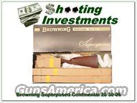 Browning Superposed Continental 20 Gauge 30-06 in box!