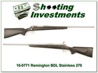 Remington 700 BDL Stainless 270 Winchester