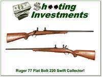 Ruger 77 Flat Bolt 220 Swift Medium Heavy barrel collector!