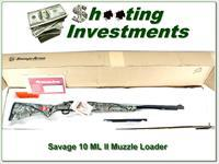Savage 10 ML II camo NIB 50 Cal Muzzle Loader