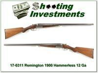 Remington 1900 12ga. Hammerless SxS