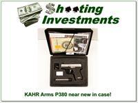 KAHR Arms P380 380 auto near new in case 2 mags!
