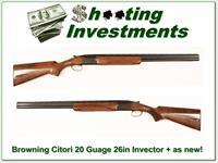 Browning Citori 20 Gauge as new very nice wood!