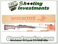 Winchester Model 70 New Haven Coyote Laminate Stainless 270 WSM