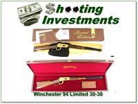 Winchester 94 Limited Edition 1 30-30 1977 NIB with walnut case!