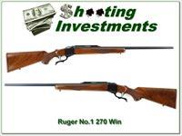 Ruger No.1 Red Pad 270 In XX Wood collector!