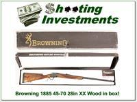 Browning 1885 45-70 28in Octagonal in box XX Wood!