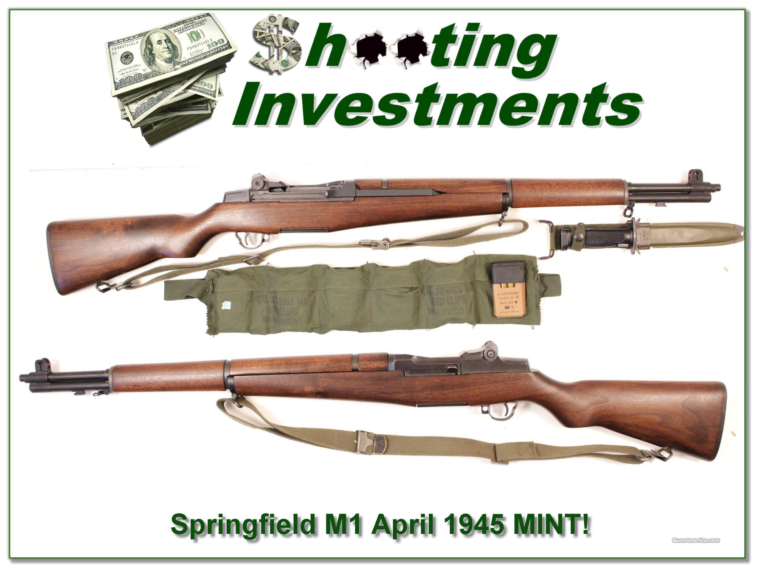 1945 Springfield Armory M1 Garand 30-06 Collector Condition!