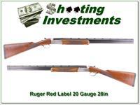 Ruger Red Label 20 Ga 28in English stock