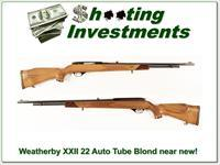 Weatherby Mark XXII 22 semi-auto Tube Blond about new!