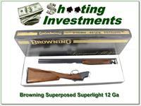 Browning Superposed Superlight Belgium 20 Ga Exc Cond!