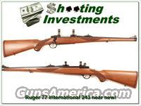 Ruger Model 77 International hard to find 243 Red Pad