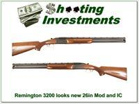 Remington 3200 25.5in Mod and IC barrels Exc Cond!