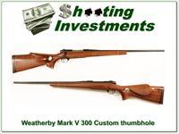Weatherby Mark V Deluxe 300 with custom stock