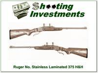 Ruger No.1 Tropical 375 H&H Stainless Laminate as new!