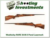Weatherby Mark V hard to find 30-06 Lazermark 5 Panel as new