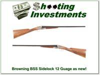 Browning BSL BSS Sidelock 12 Gauge 26in looks new!
