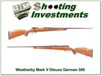 Weatherby Mark V Deluxe 26in German 300 Exc Cond!