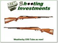 Weatherby Mark XXII 22 auto Tube as new!