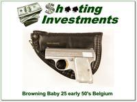 Browning Baby 25 25 auto Chrome 50's Exc Cond!