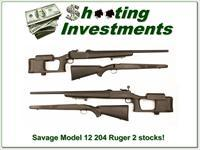 Savage Model 12 in 204 Ruger HB with target stock and original stock