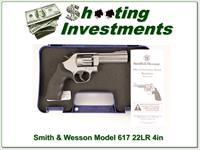 Smith & Wesson 617 4in 22LR Stainless ANIC