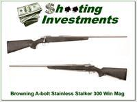 Browning A-bolt Stainless Stalker 300 Win Mag Exc Cond