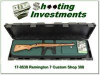 Remington Model 7 Custom Shop Mannlicher 308 Win