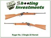 Ruger No. 3 older hard to find 22 Hornet Exc Cond!