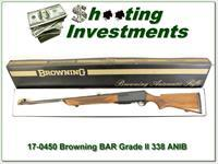 Browning BAR Grade II 338 unfired, 70 Belgium Blond!